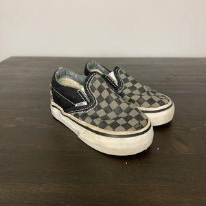 Vans Toddler checked slip on sneakers